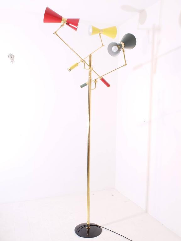 Mid-Century Modern Arredoluce Brass 'Triennale' Floor Lamp For Sale