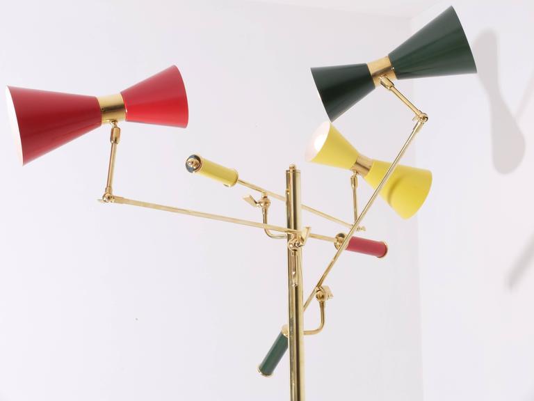 Italian Arredoluce Brass 'Triennale' Floor Lamp For Sale