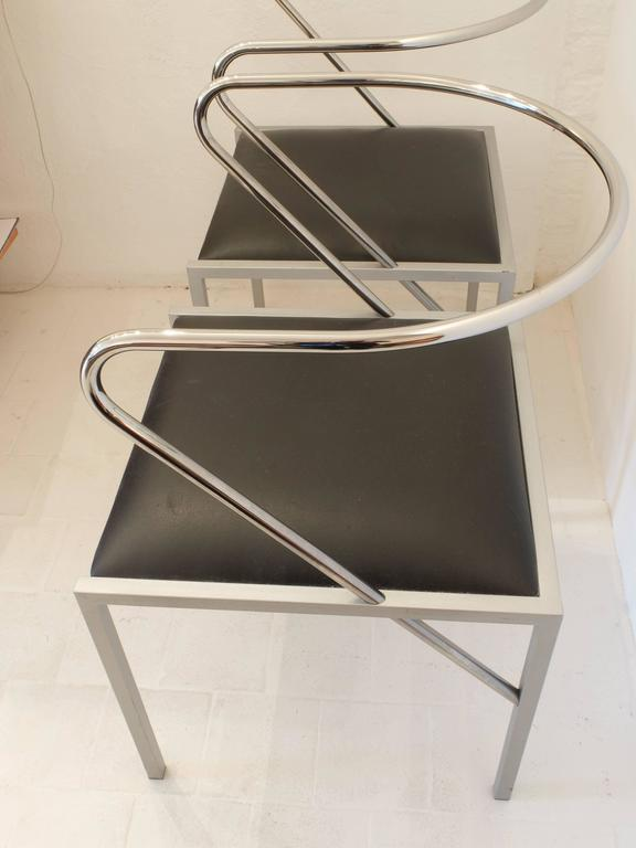 Minimalist Shiro Kuramata Apple Honey Side Chairs For Sale