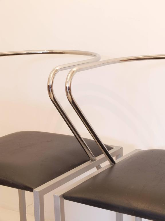 Painted Shiro Kuramata Apple Honey Side Chairs For Sale