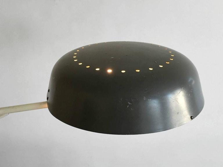 Lacquered 1950 Henri Lancel and Robert Mathieu Agrafée Clamp Desk Lamp  FREE TRANSPORT For Sale