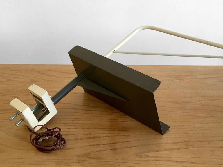 Aluminum 1950 Henri Lancel and Robert Mathieu Agrafée Clamp Desk Lamp  FREE TRANSPORT For Sale