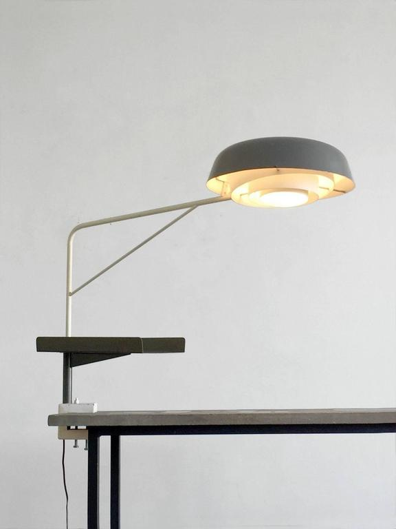 An Exceptional Agrafée Desk Lamp, Modernist, Bauhaus, Free Form,  Constructivist In