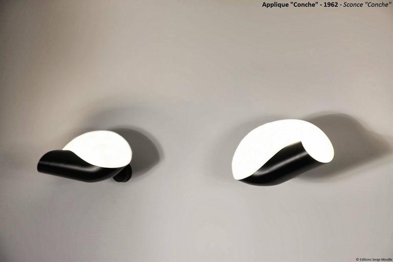 sconce applique serge mouille conque or conch shell for. Black Bedroom Furniture Sets. Home Design Ideas