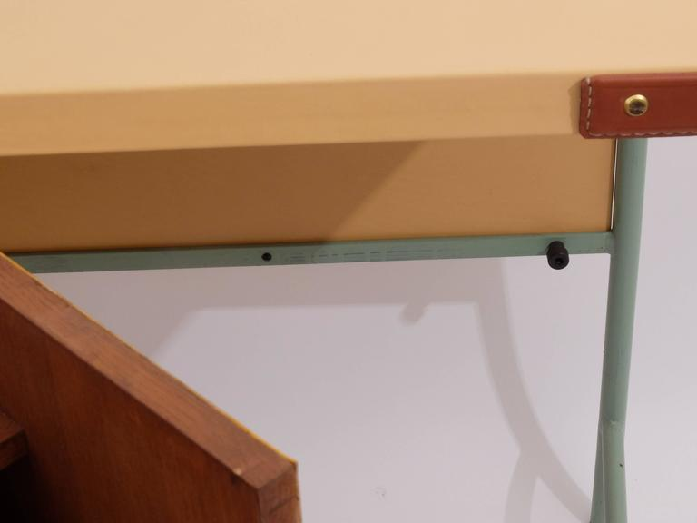 Jacques Adnet Console with Pivoting Drawers For Sale 2