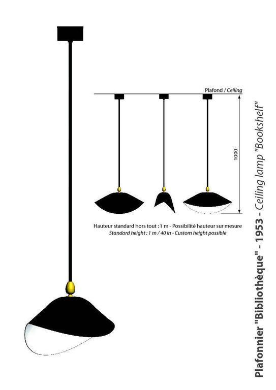Lacquered Serge Mouille Ceiling lamp