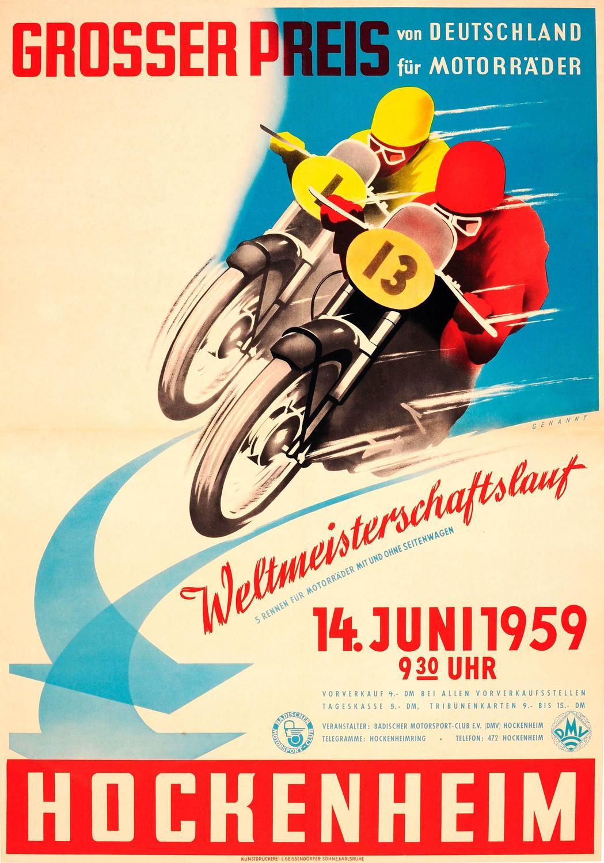 Vintage Motorcycle Racing Posters 78