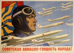 Original Vintage Soviet Propaganda Poster - Soviet Aviation Pride Of People!