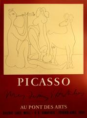 Original 1958 Picasso Exhibition Poster For Mes Dessins d'Antibes - Lucie Weill
