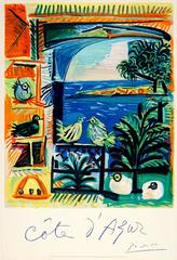 Original 1962 Travel Poster By Pablo Picasso For The Cote d'Azur French Riviera
