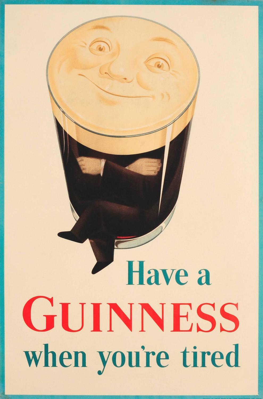 Original Vintage Guinness Advertising Poster - Have A ...