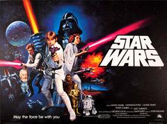 Original Vintage 1977 Pre-Oscars Movie Poster For The Iconic Film Saga Star Wars