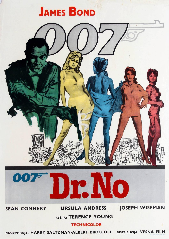 original vintage james bond movie poster for dr no