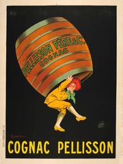 Large Original 1910s Advertising Poster By Leonetto Cappiello - Cognac Pellisson