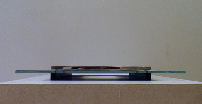 This glass tray can be used as a table centre piece. It was designed by Boris Lacroix in the 1930's and is a very fine example of the French Modernist style. Boris Lacroix was a famous Modernist designer alongside J Adnet or R Mallet-Stevens. It is