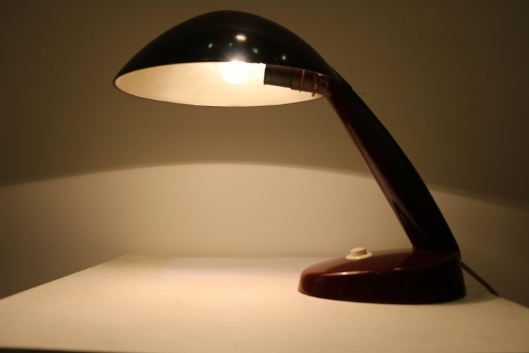 Rare Kandem Bakelite Table Lamp Attributed to Marianne Brandt, circa 1945 For Sale 1