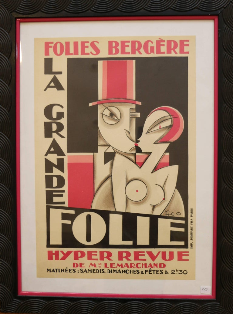 Paper Original and Rare Lithographic Poster by Pico, Art Deco, France, 1920s For Sale
