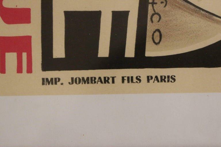 French Original and Rare Lithographic Poster by Pico, Art Deco, France, 1920s For Sale