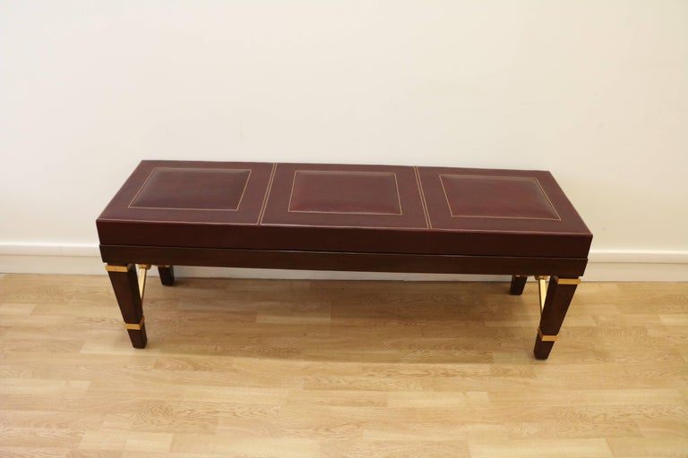 Art Deco Bench by Raymond Subes, Art Déco, France, 1940-1950 For Sale