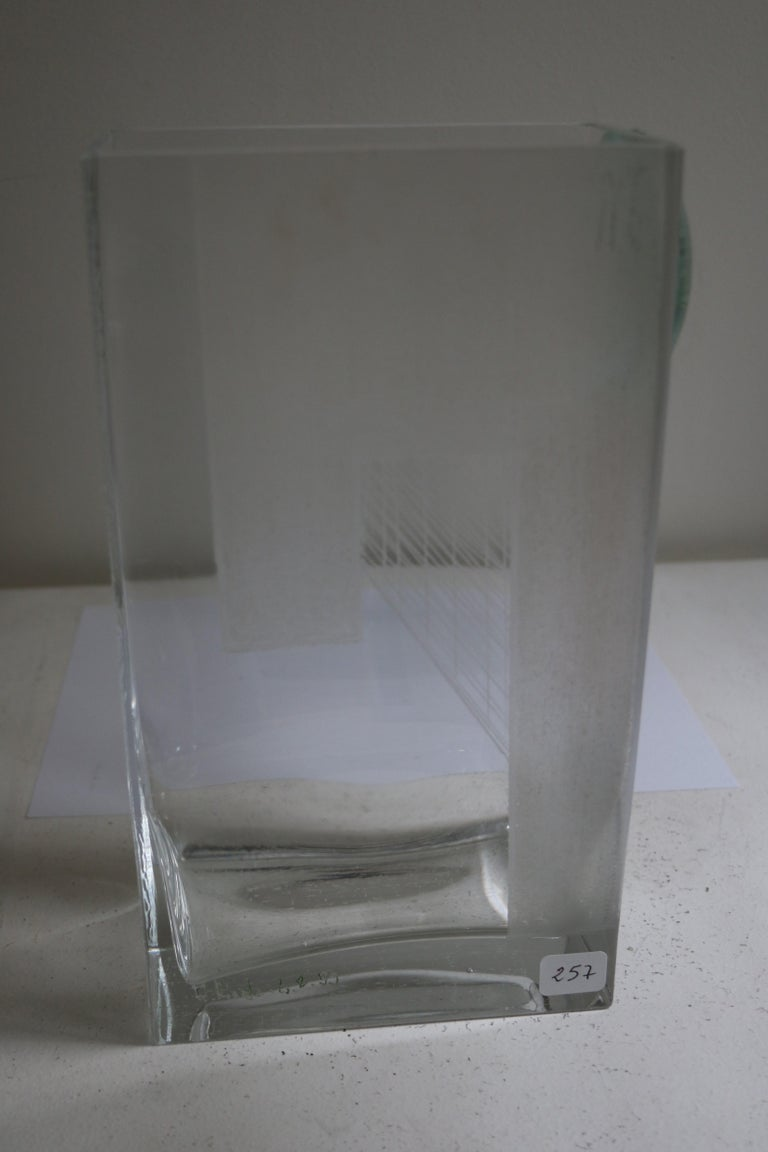 Engraved Cubist Art Deco Vase by A Riecke, France, Signed and Dated 1939 For Sale