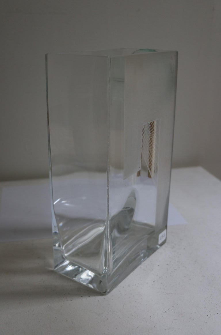 Cubist Art Deco Vase by A Riecke, France, Signed and Dated 1939 In Good Condition For Sale In Paris, FR