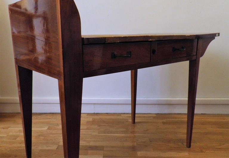 Exceptional Asymmetric Student Desk by Eugène Printz, Art Déco, France, 1930s 6