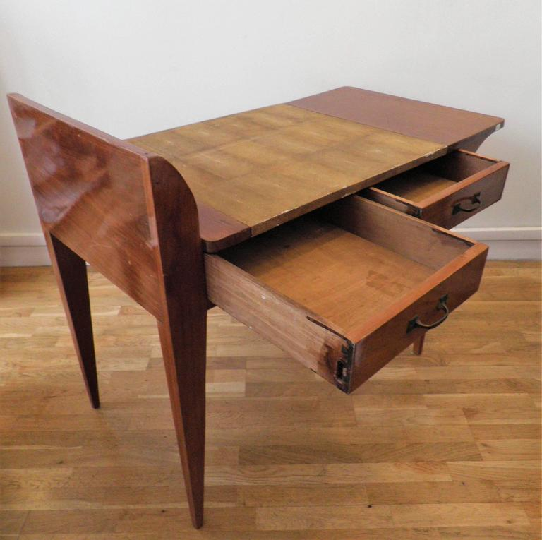 Exceptional Asymmetric Student Desk by Eugène Printz, Art Déco, France, 1930s 10