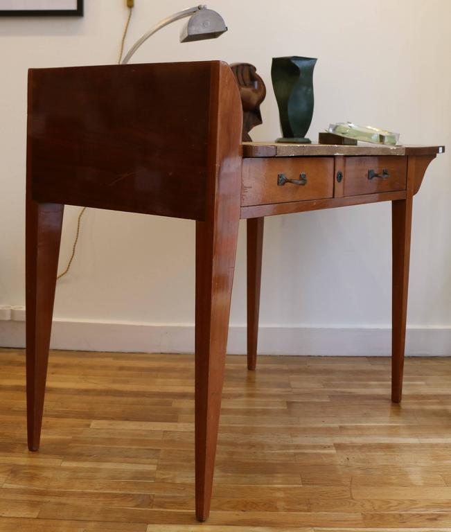 Exceptional Asymmetric Student Desk by Eugène Printz, Art Déco, France, 1930s 4
