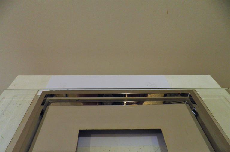 Metal Modernist Table Centre Piece by Boris Lacroix, Art Deco, France, 1930s For Sale