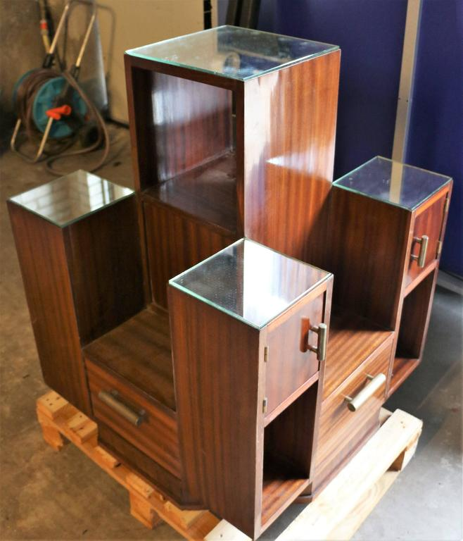 French Display Case by DIM, Mahogany Veneers, France, Art Deco, circa 1930 For Sale