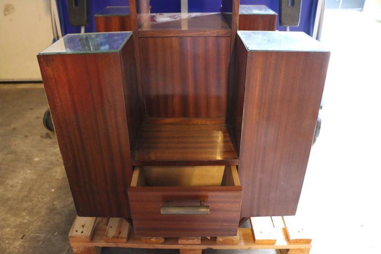 Display Case by DIM, Mahogany Veneers, France, Art Deco, circa 1930 For Sale 2