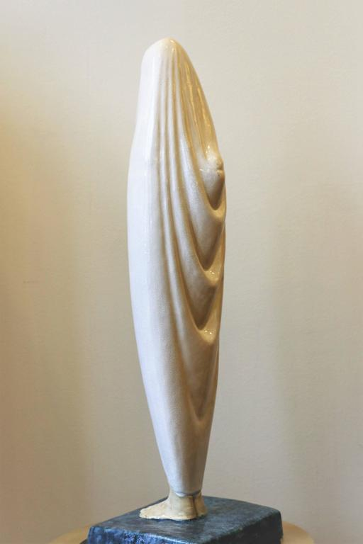 Exceptional 74cm high ceramic by Céline Lepage (1882-1928) titled