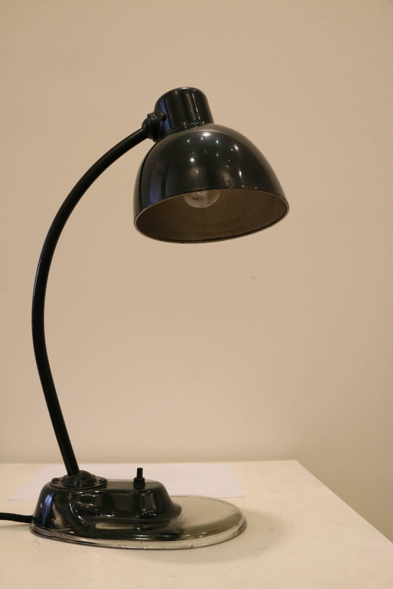 Emblematic Bauhaus Desk Lamp Designed By Marianne Brandt 1893 1983 And Manufactured