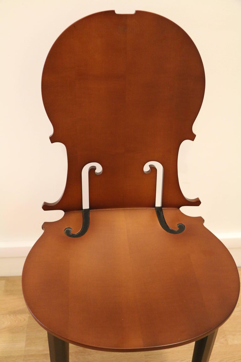 Cello chair by Arman editions Hugues Chevalier n°4/50. Wood (sycamore and beech), France.