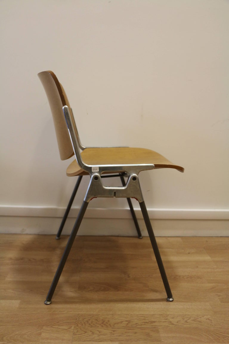 Late 20th Century Set of Six Mid-Century Modern Chairs by Giancarlo Piretti, Italy, 1970s For Sale