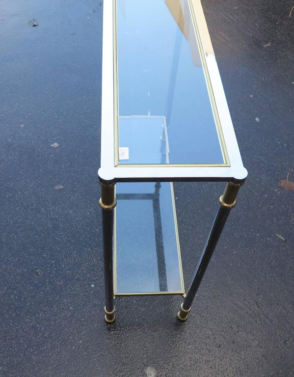 Art Deco Console Willy Rizzo or Maison Jansen, 1970-1980 For Sale