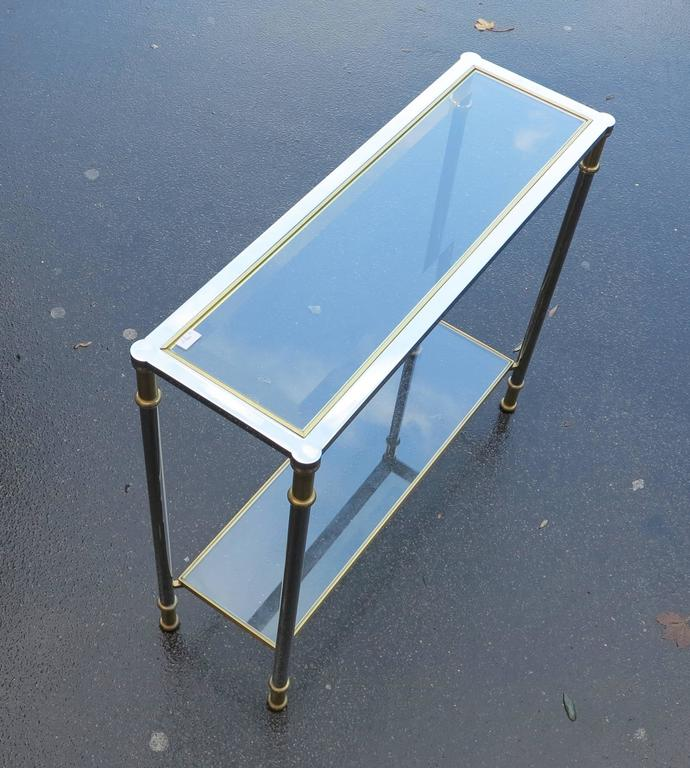 French Console Willy Rizzo or Maison Jansen, 1970-1980 For Sale
