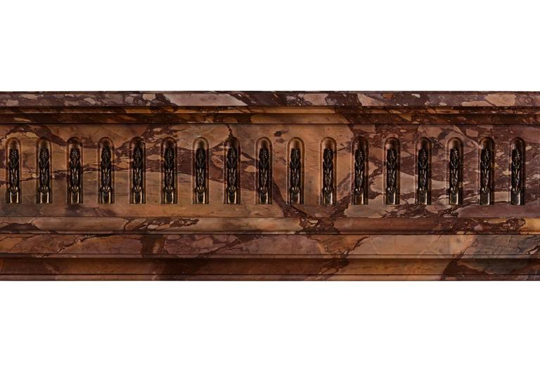French Petite Louis XVI Style Marble Fireplace Mantel For Sale