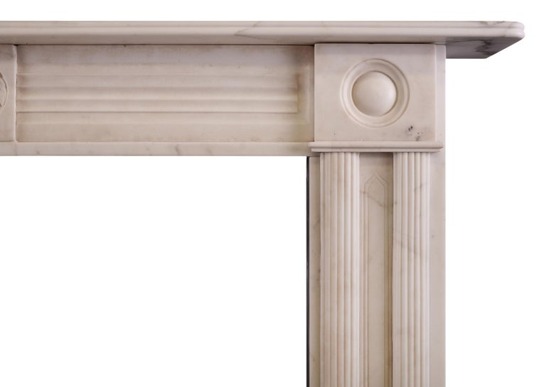 Period Regency Statuary Marble Fireplace In Excellent Condition For Sale In London, GB