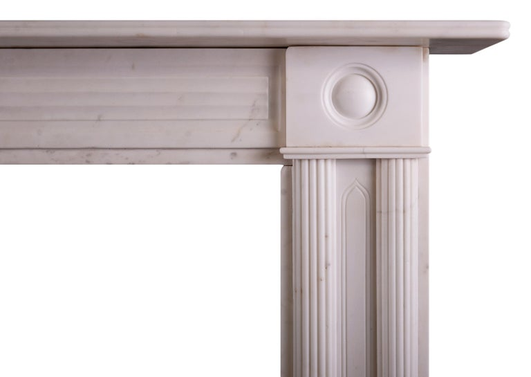 A Period Statuary Marble Regency Fireplace In Excellent Condition For Sale In London, GB