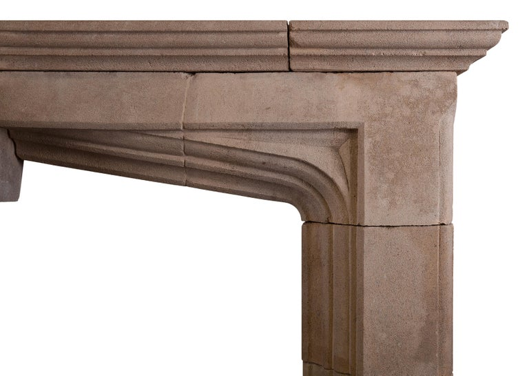 Impressive Bath Stone Gothic Fireplace In Excellent Condition For Sale In London, GB