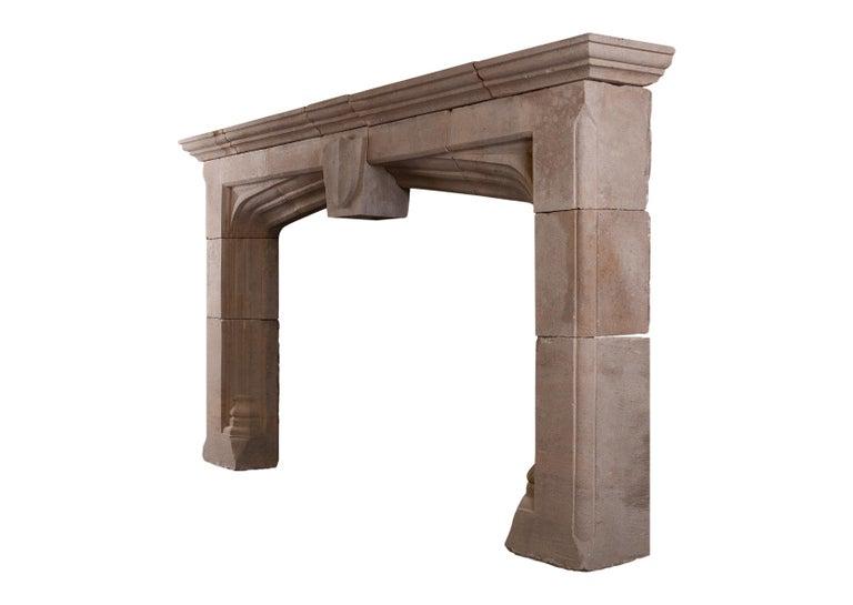 19th Century Impressive Bath Stone Gothic Fireplace For Sale