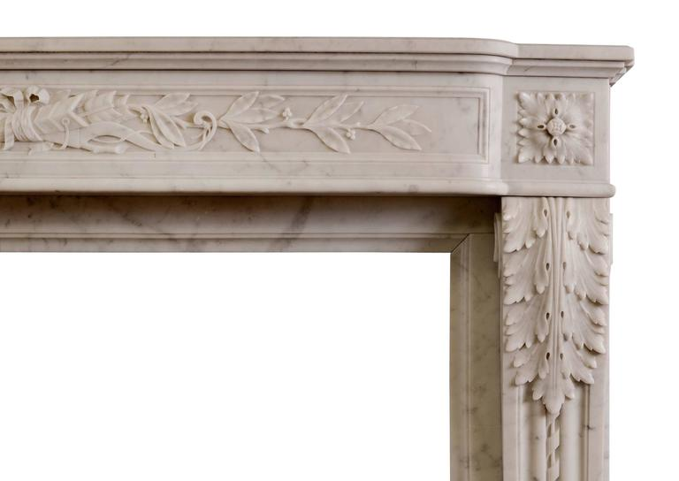 19th Century French Louis XVI Style Fireplace In Excellent Condition For Sale In London, GB
