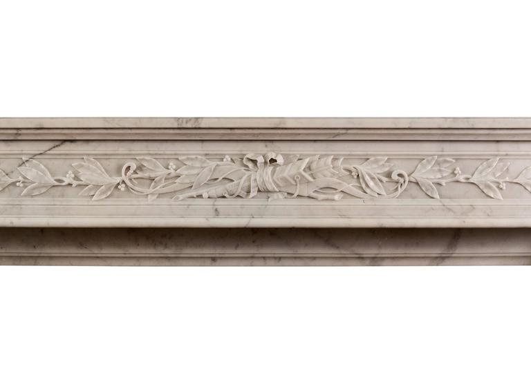 18th Century 19th Century French Louis XVI Style Fireplace For Sale
