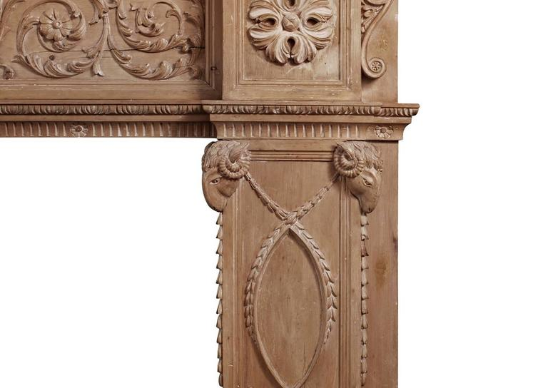 Imposing Period English Antique Regency Pine Fireplace In Excellent Condition For Sale In London, GB