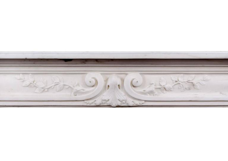 French Late 18th Century Louis XVI Statuary Marble Fireplace For Sale
