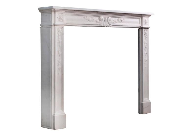 Late 18th Century Louis XVI Statuary Marble Fireplace For Sale 1
