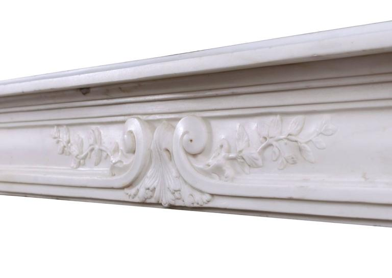 Late 18th Century Louis XVI Statuary Marble Fireplace For Sale 2