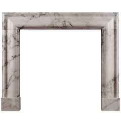 English Bolection Mantel in Arabescato Marble