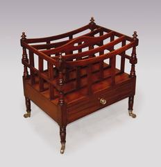 Early 19th Century Regency Period Mahogany Canterbury